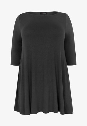 LONGLINE - Long sleeved top - black