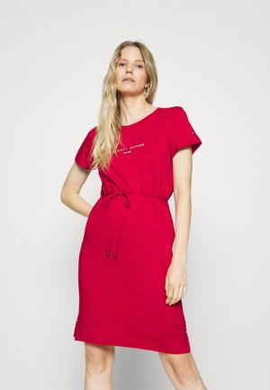 Jersey dress - primary red