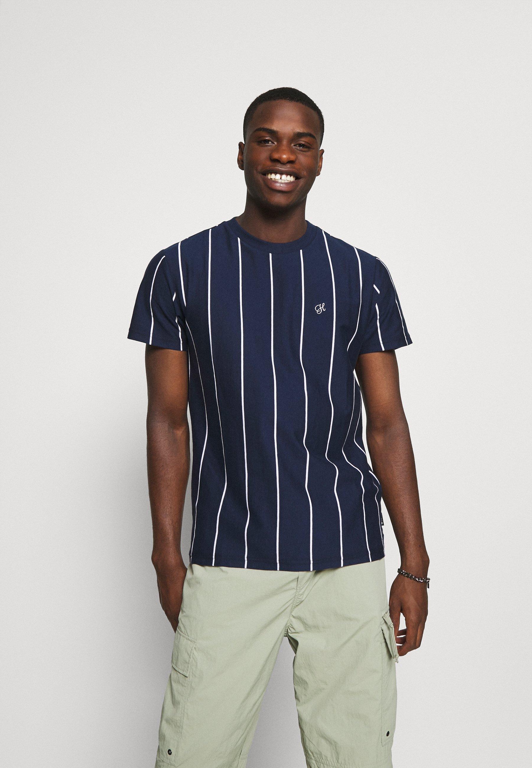 Men WESLEY STRIPE - Print T-shirt