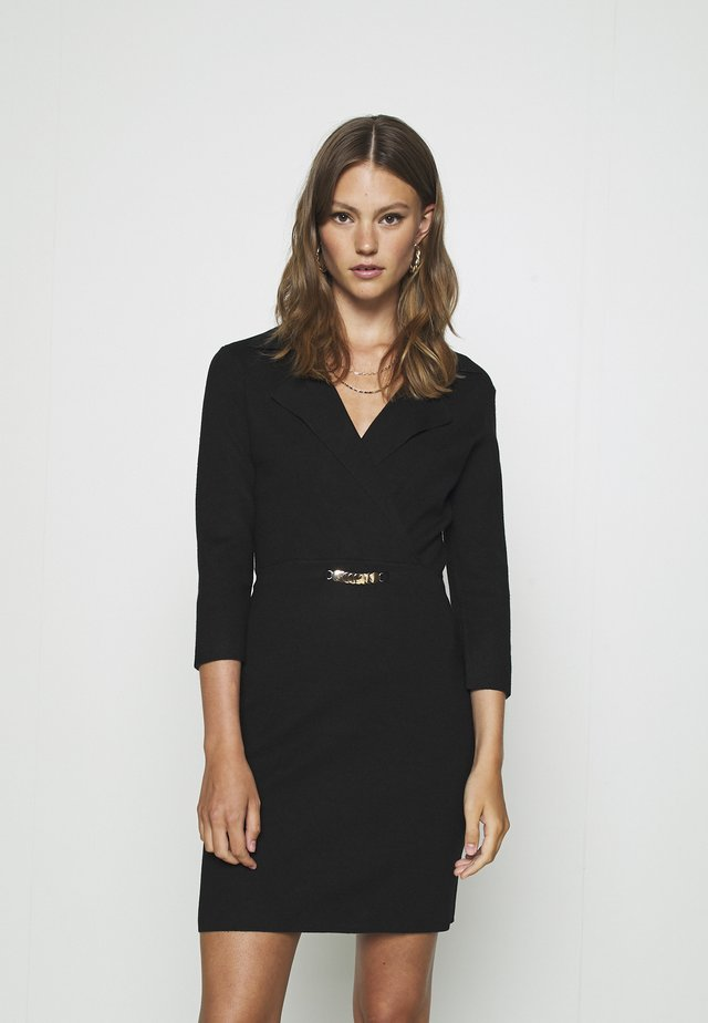 Sukienka dzianinowa - noir