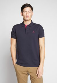 GANT - CONTRAST COLLAR RUGGER - Pikeepaita - evening blue - 0