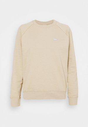 PLAIN CREW NECK - Sweatshirt - service sand
