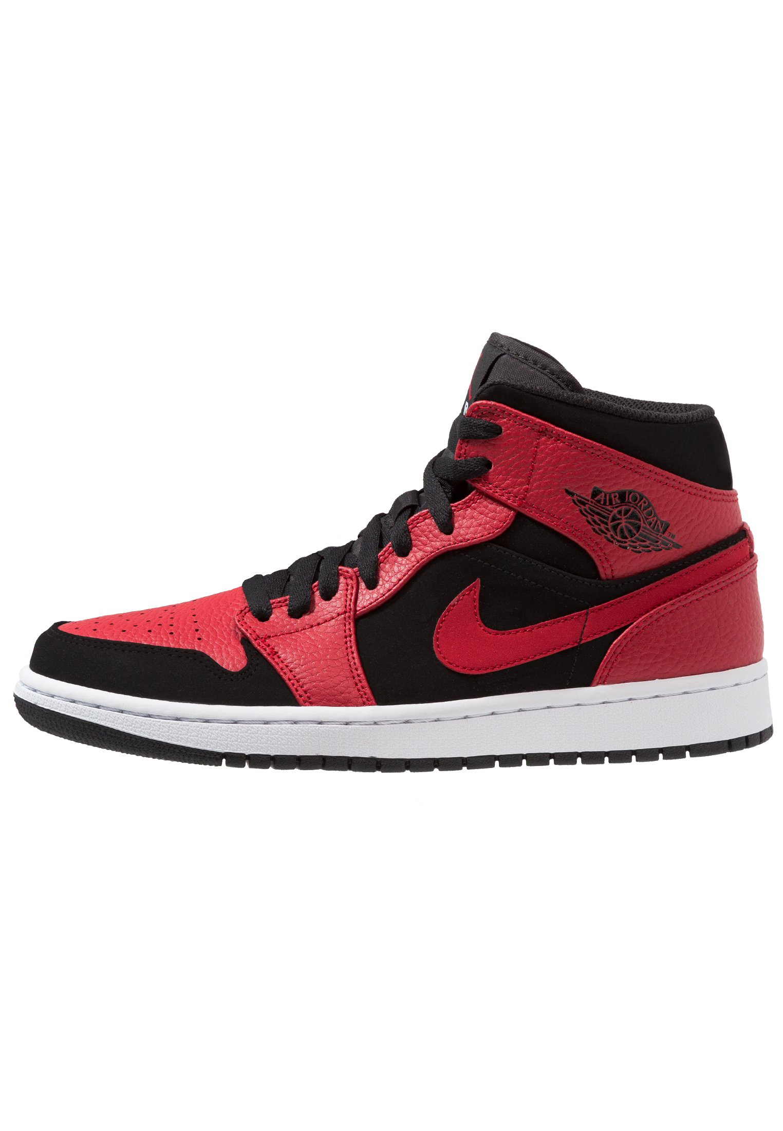 AIR 1 MID - Sneaker high - black/white/gym red