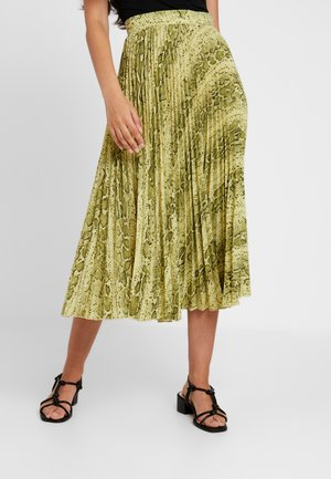 VALENTINE SKIRT - Pleated skirt - neon yellow