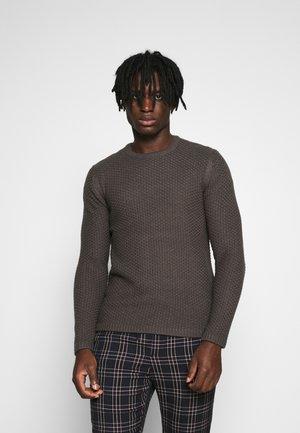 ONSLOCCER CREW NECK - Sweter - grey