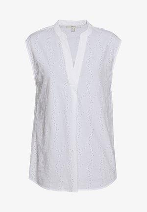SCHIFFLI BLOUSE - Bluse - white