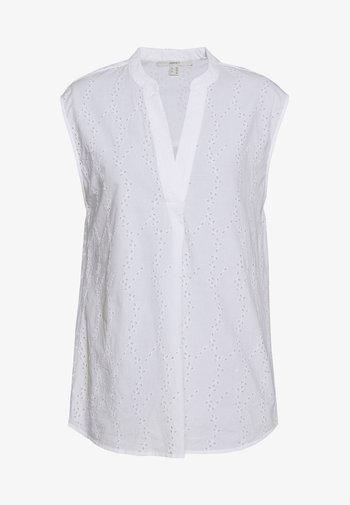 SCHIFFLI BLOUSE - Blusa - white