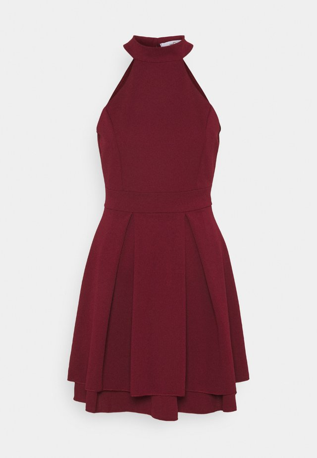 CHERYL HALTER NECK SKATER DRESS - Cocktailkleid/festliches Kleid - wine