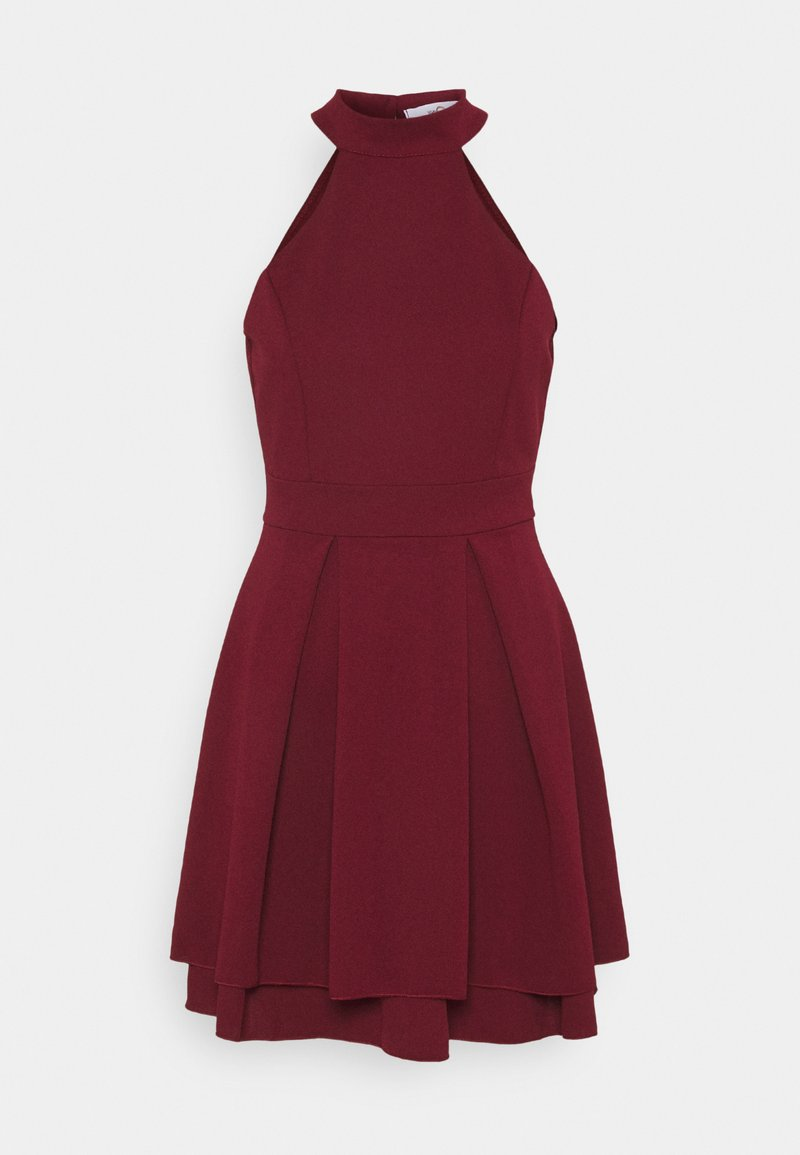 WAL G. - CHERYL HALTER NECK SKATER DRESS - Cocktail dress / Party dress - wine
