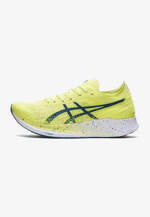 MAGIC SPEED - Competition running shoes - glow yellow/deep sea teal