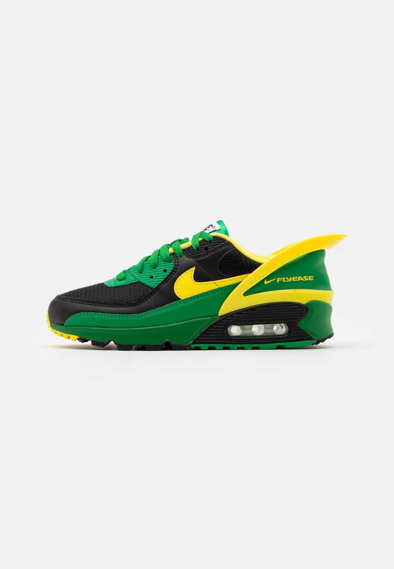Nike Sportswear - AIR MAX 90 FLYEASE UNISEX - Tenisky - black/yellow strike/green/black