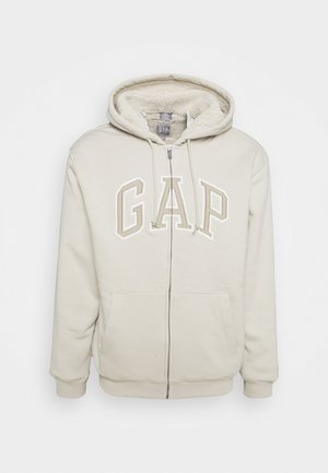 ARCH LOGO - Zip-up sweatshirt - moonstone