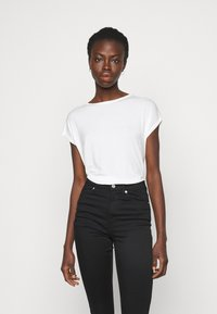 Vero Moda Tall - VMAVA PLAIN 2 PACK - Jednoduché triko - black/snow white - 1