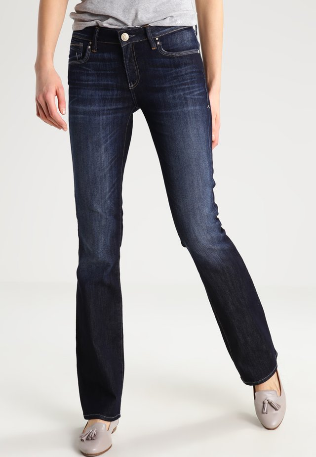 BELLA - Jeans bootcut - rinse miami stretch