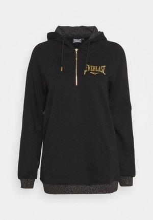HOODED ELLIS - Sweatshirt - black