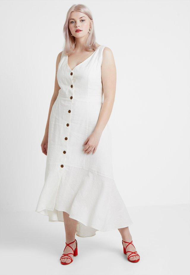 EXCLUSIVE MAXI SWEETY BUTTON - Vestito estivo - ivory