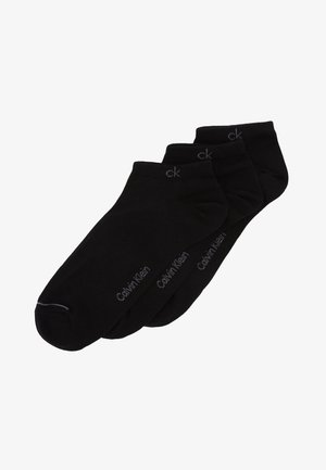 MEN LINER 3 PACK - Trainer socks - black