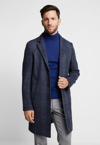 Tommy Hilfiger Tailored - UNLINED CHECK OVERCOAT - Manteau classique - blue - 0