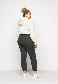 Pieces Curve - PCRELINO PANTS LOUNGE - Tracksuit bottoms - dark grey melange - 2