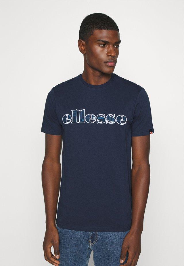 LOCARA - T-shirt imprimé - navy
