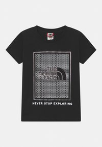 The North Face - GRAPHIC UNISEX - Print T-shirt - black - 0