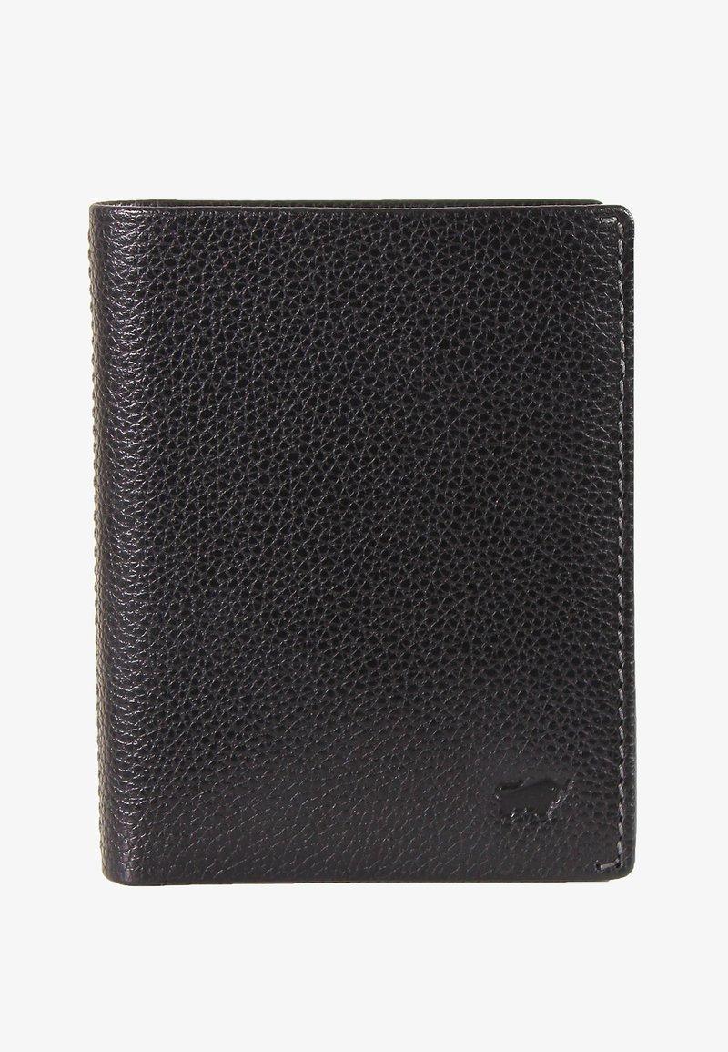 Braun Büffel - MIT NARBENSTRUKTUR - Wallet - black