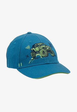 KIDS BOY MONSTERTRUCK - Caps - jeans/frisches grün