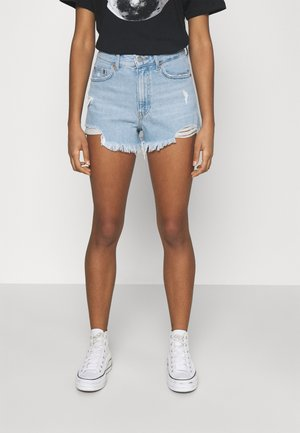 SKYE - Jeansshorts - empress light blue ripped