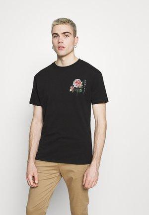 FLORAL TEE - T-shirt imprimé - black