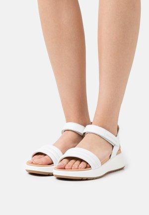 SPORTY - Platform sandals - white