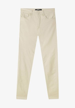 MIT HOHEM BUND - Pantalon classique - beige