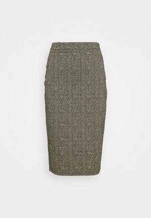 IHKATE GRID - Pencil skirt - black