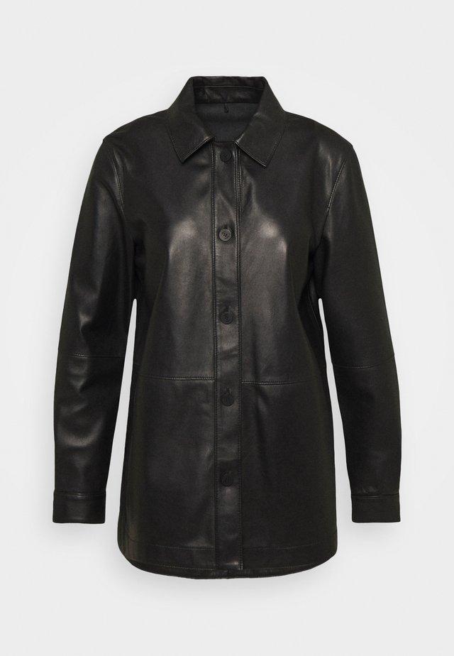 LEANAS - Button-down blouse - black