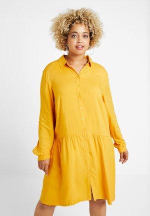 DRESS WITH TURN UPS - Shirt dress - merigold yellow
