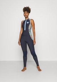 Roxy - MARINE BLOOM LONG - Swimsuit - dark navy/allure/sulphur - 1