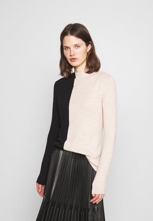 TAMILLY COLORBLOCK - Strickpullover - black