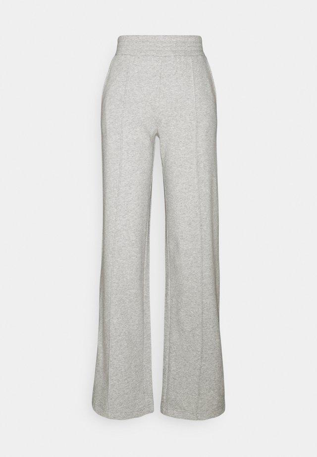 PCCHILLI WIDE PANTS - Träningsbyxor - light grey melange