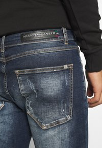 Alessandro Zavetti - CHEILLINI SUPER SLIM - Slim fit jeans - indigo - 3