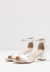 Anna Field - LEATHER HEELED SANDALS - Sandals - silver - 4