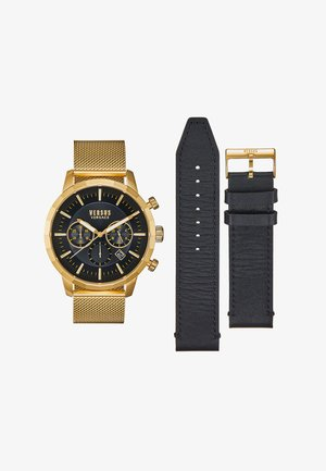 EUGENE SET - Chronograph watch - gold-coloured/black