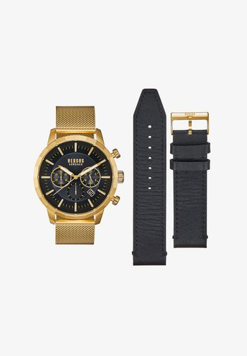 EUGENE SET - Zegarek chronograficzny - gold-coloured/black