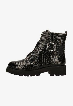 Cowboystøvletter - black croco patent