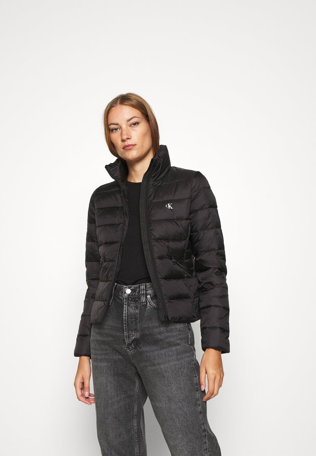 LOGO FITTED PUFFER - Winter jacket - black