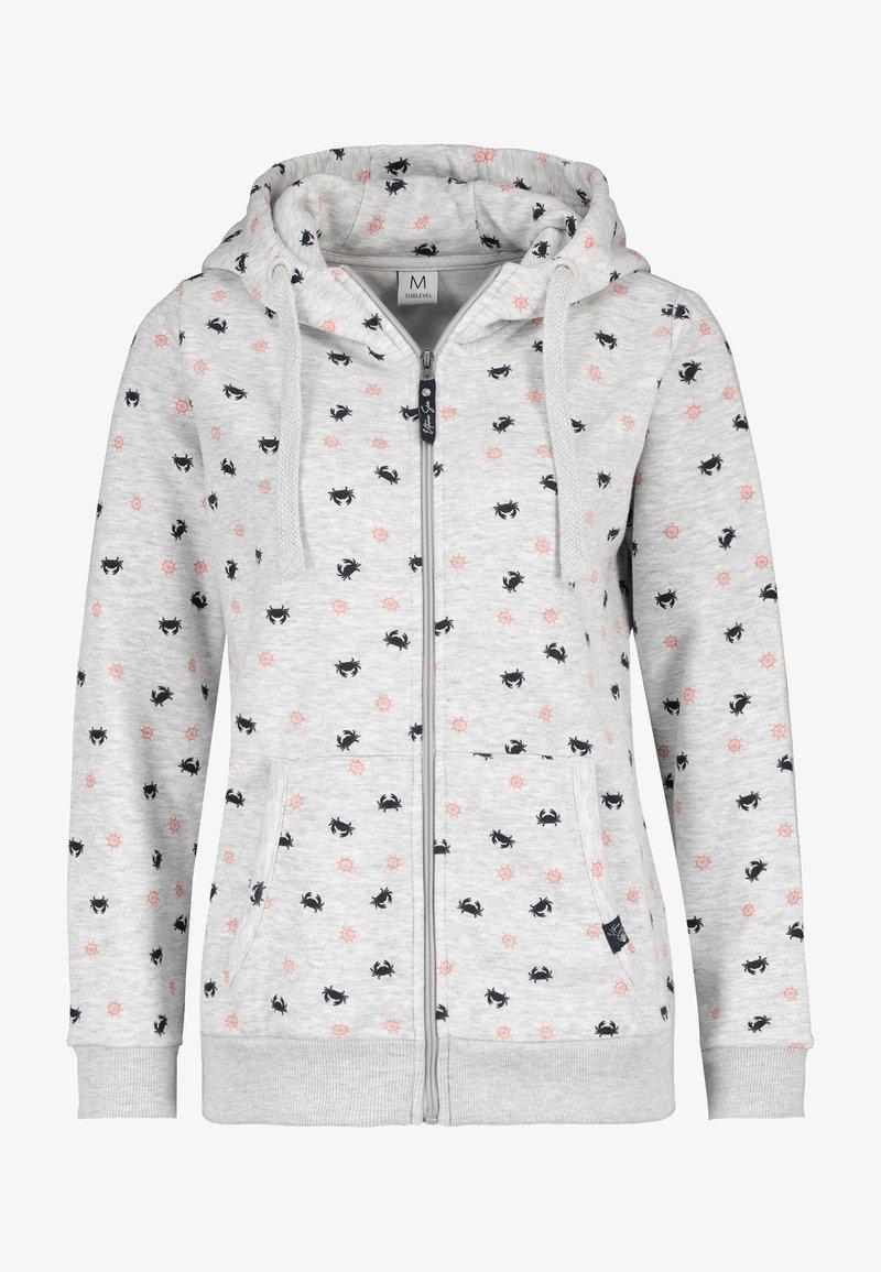 Sublevel - Zip-up sweatshirt - light grey
