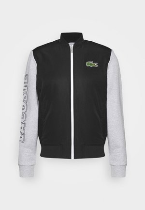 JACKET - Training jacket - black/silver chine/white
