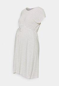 MAMALICIOUS - MLALISON DRESS  - Jersey dress - snow white / black - 0