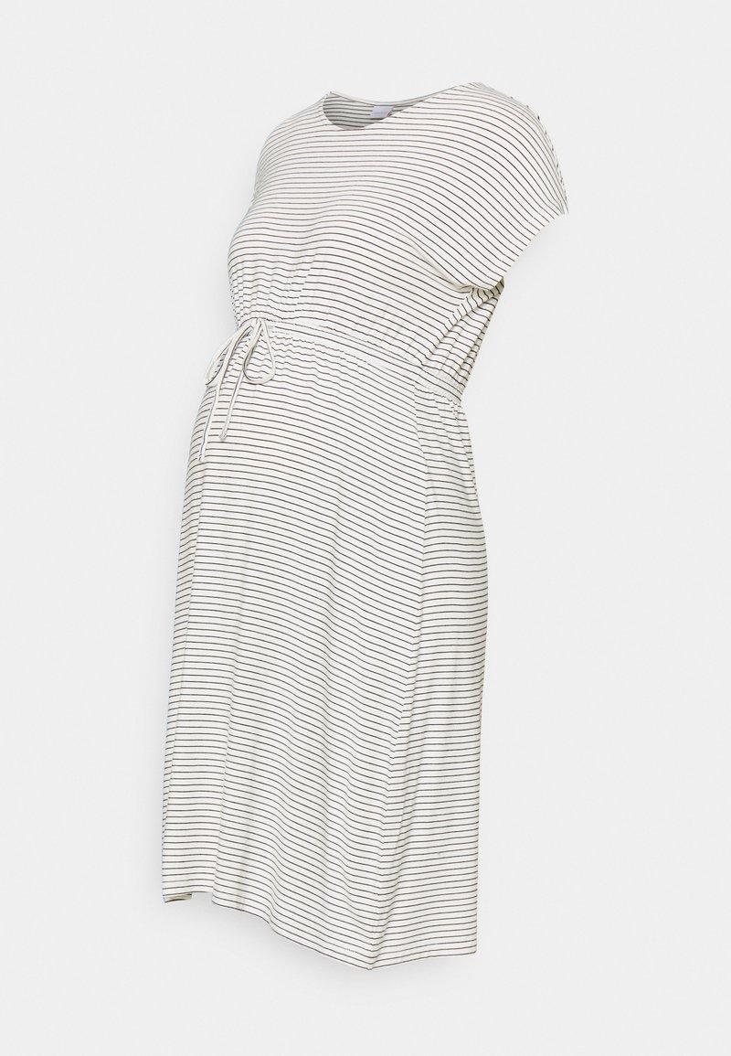 MAMALICIOUS - MLALISON DRESS  - Jersey dress - snow white / black