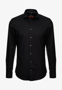 Seidensticker - SLIM SPREAD KENT PATCH - Formal shirt - black - 4