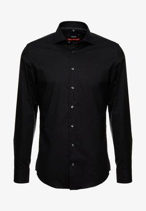 SLIM SPREAD KENT PATCH - Zakelijk overhemd - black