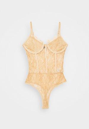 CAMI BODYSUIT - Camiseta estampada - beige